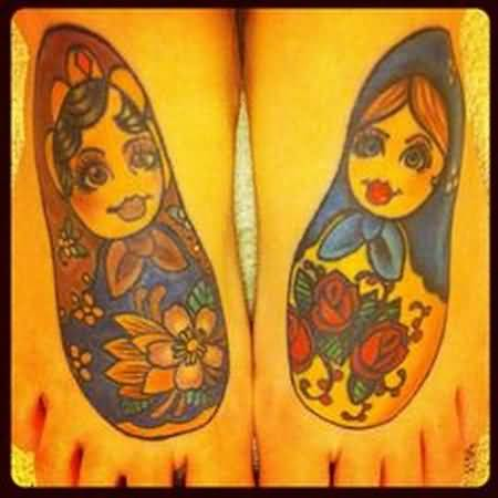 Attractive Matryoshka Tattoo
