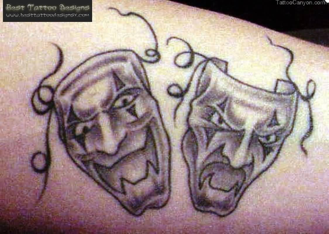 Best Clown Mask Tattoo Ever