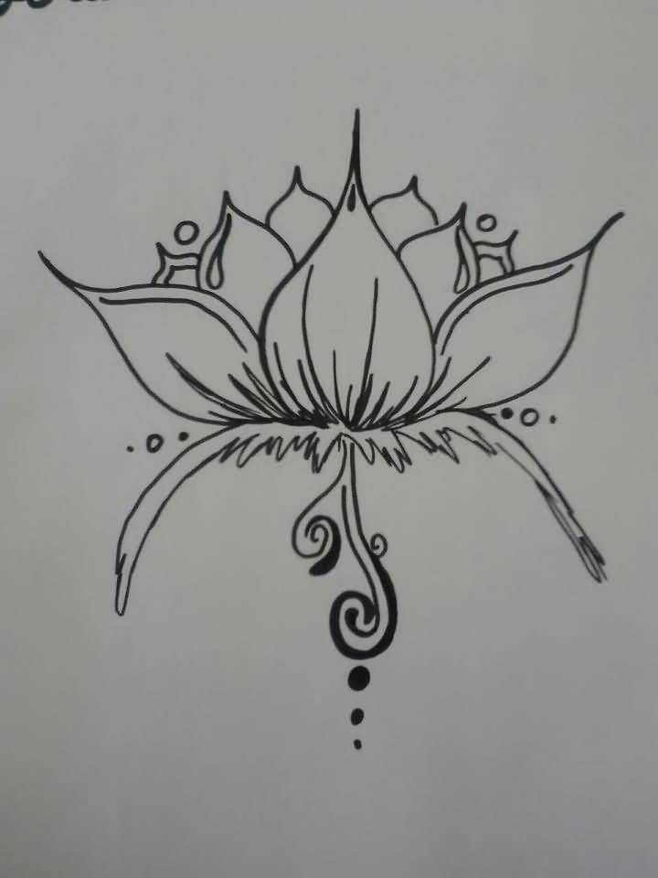 Gallery For gt Lotus Tattoo Outline