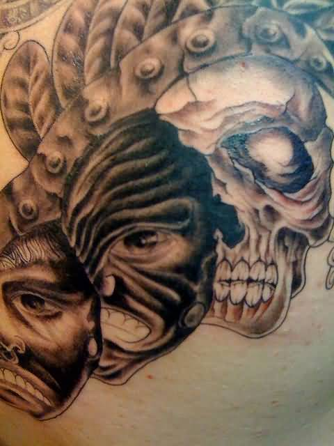 Different Gas Mask Tattoo Designs And Skull
