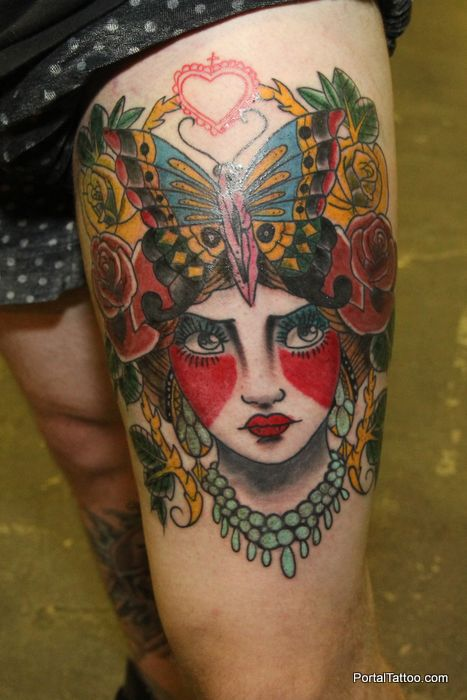 Fabulous Tattoo Of Venetian Mask for Girls