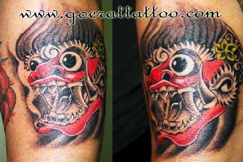 Famous Tattoo Of Barong Mask