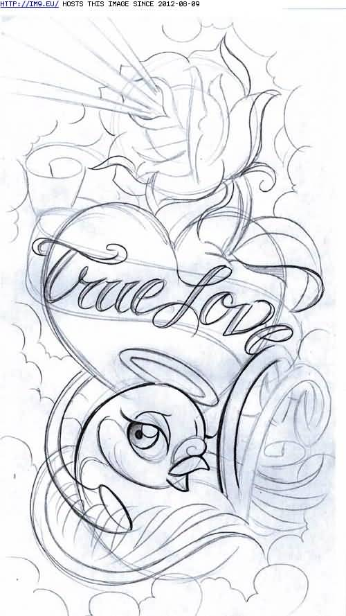Fantastic love tattoo sketch on paper for Drawing tattoos on paper