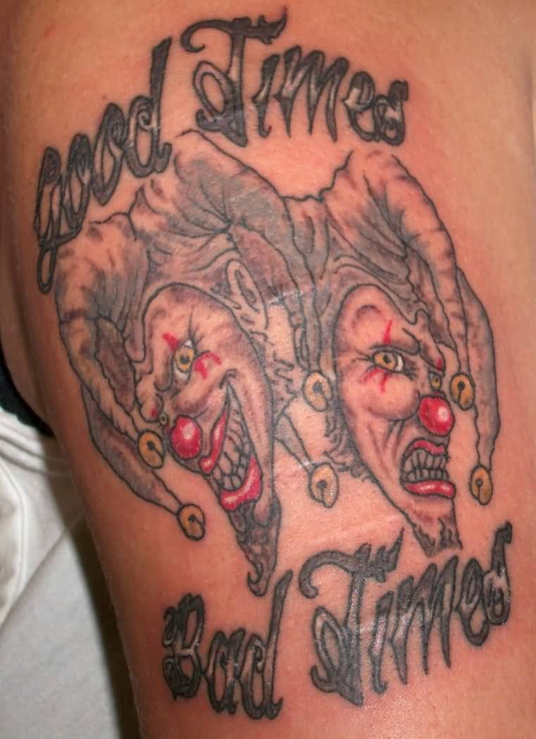 Lovely Clown Mask Tattoo