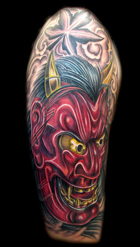 Lovely Hannya Mask Tattoo Design