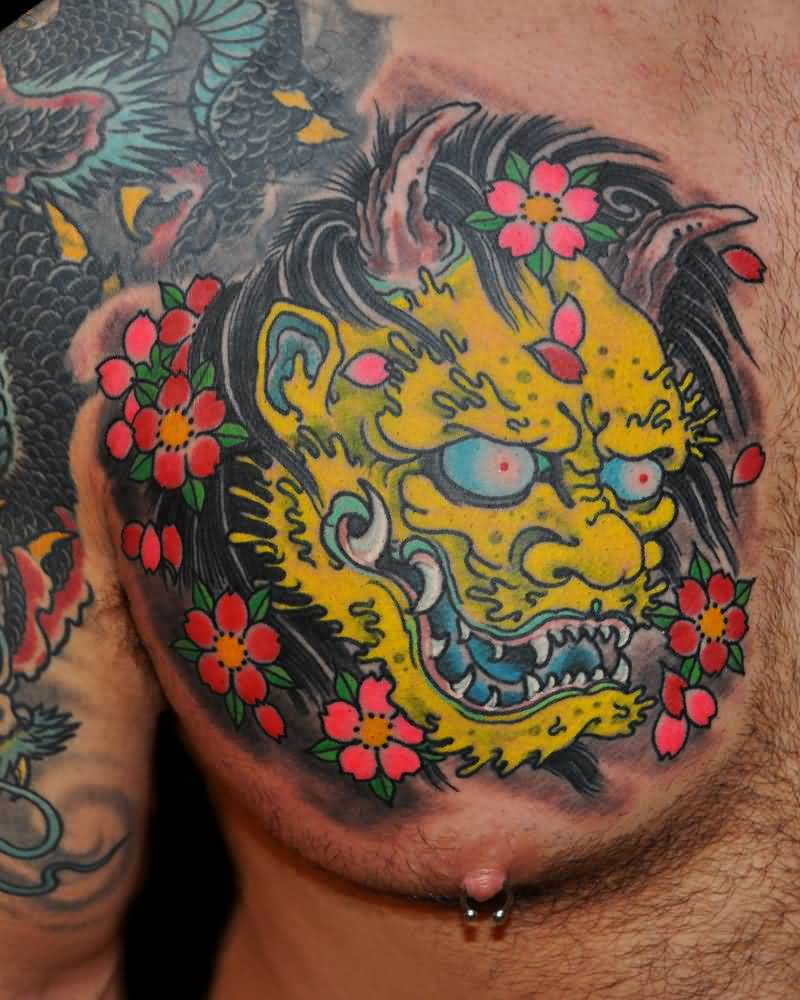 Most Elegant Hannya Mask Tattoo Ever