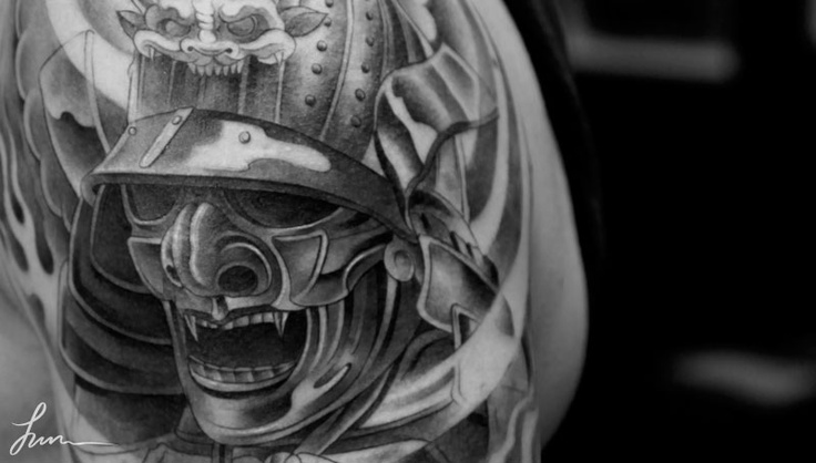 Nice Mask Tattoo Design