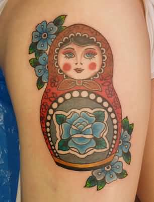 Nice Matryoshka Tattoo For Women