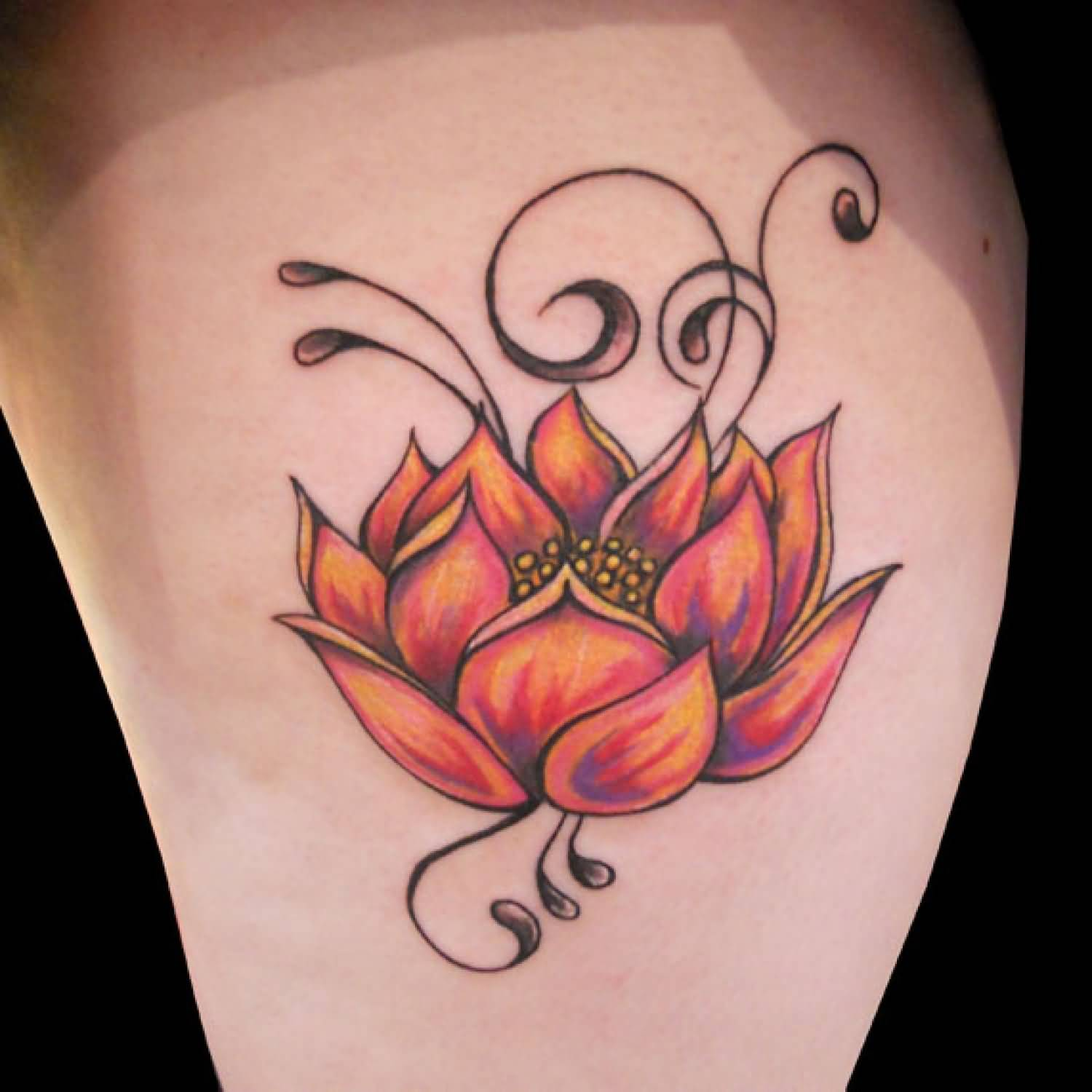 Lotus tattoo ideas and lotus tattoo designs page 4 for Flower tattoo arm