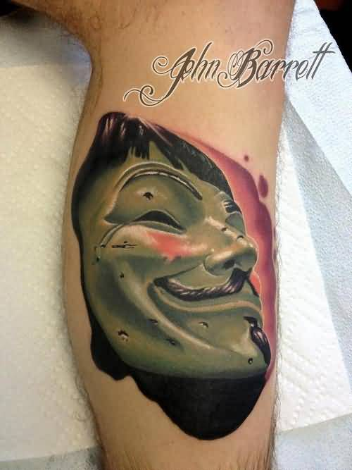 Popular anonymous face mask tattoo for Face mask tattoo