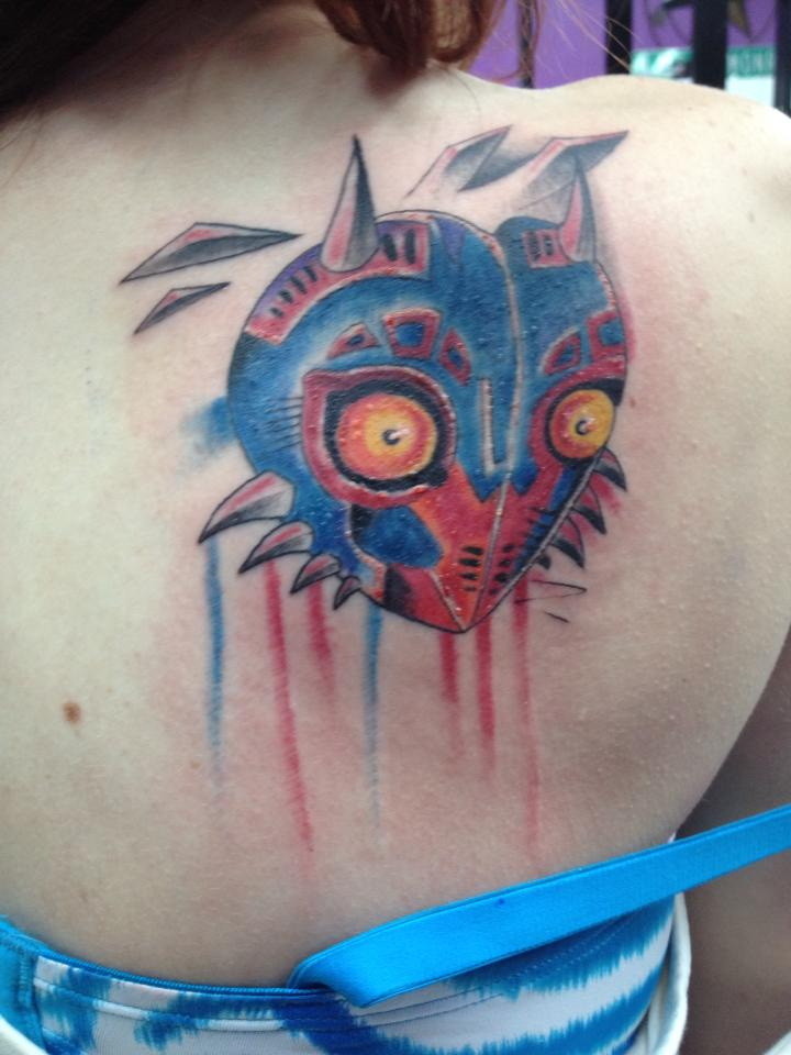 Scariest Tattoo Of Majora Mask Ever