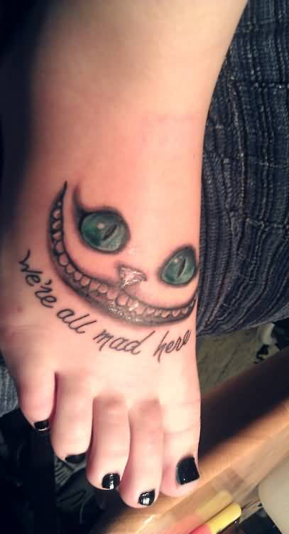 Scary Face With Green Eyes Tattoo And Best Literary