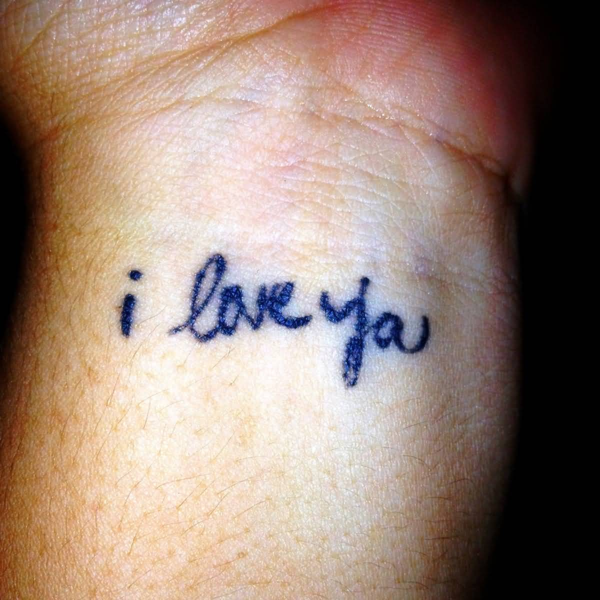 Sweet Love Wording Tattoo On Wrist