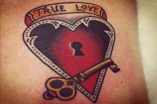 True love lock key tattoo draw for True love tattoos