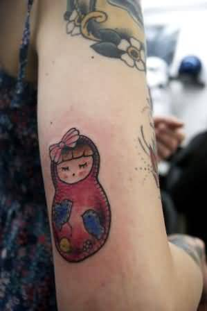 Trendy Matryoshka Tattoo For Women