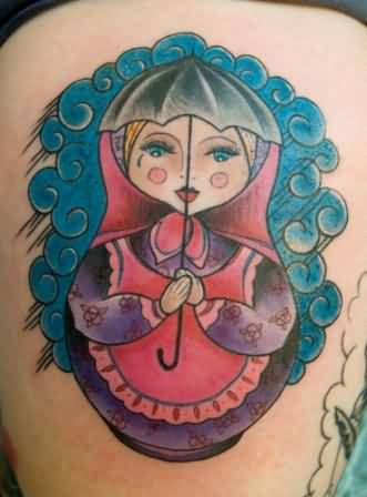Unique Matryoshka Tattoo Design