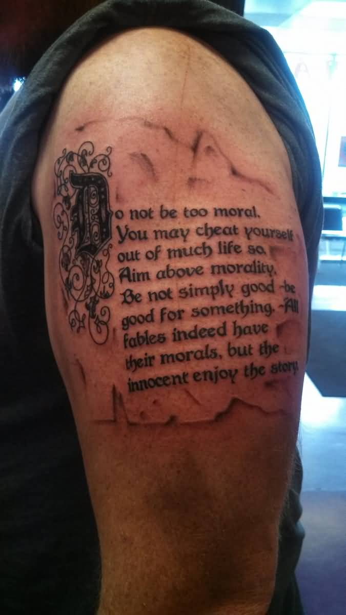 Tricep Quote Tattoos