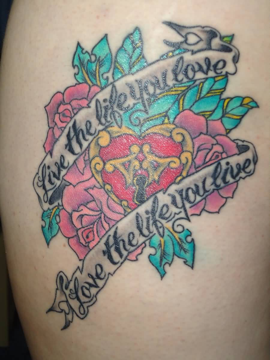 Vintage Style Tattoo Of Love