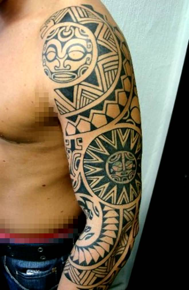 African Sleeve Tattoo For Cool Men