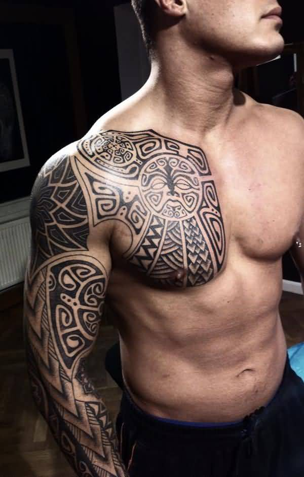 Awesome African Tattoo On Sleeve