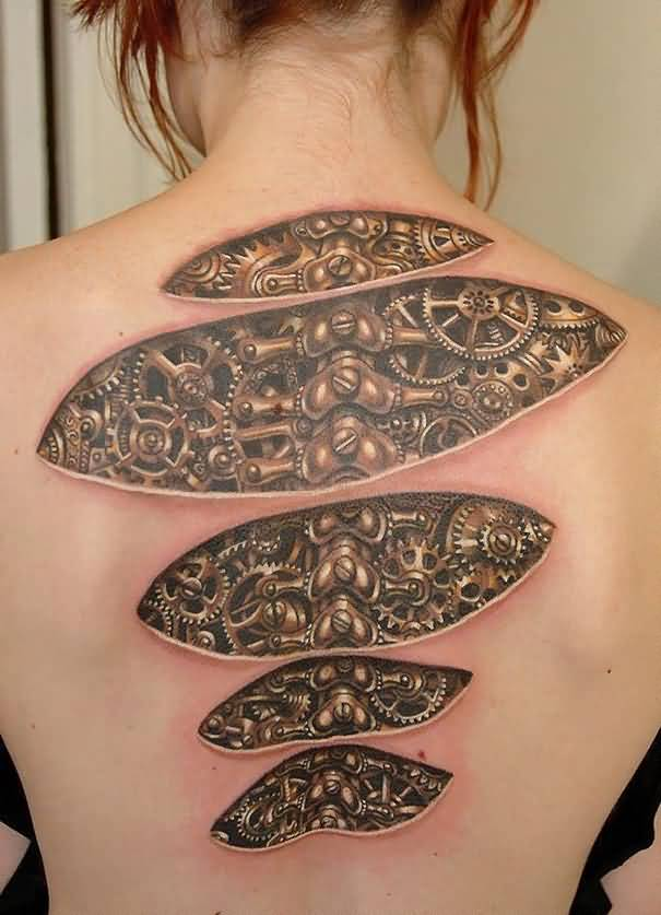 Best 3D Tattoo On Ripped Skin