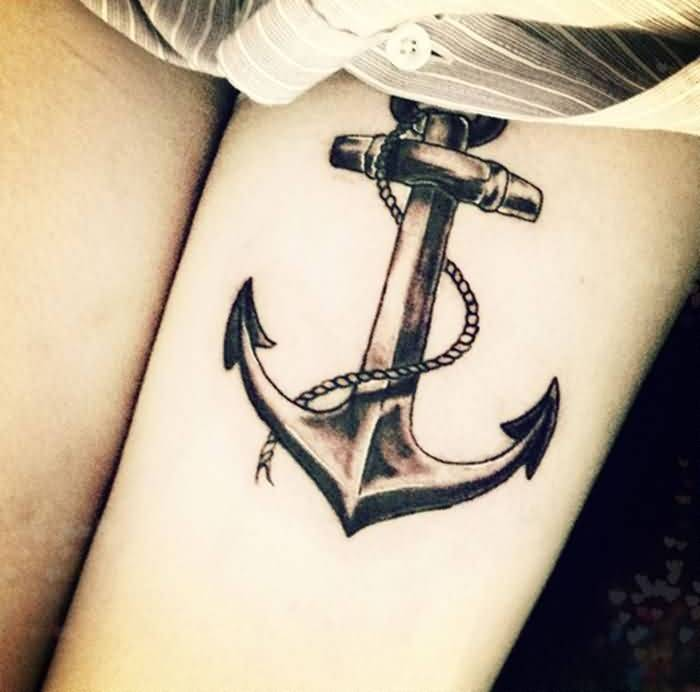 Best Anchor Tattoo On Thigh