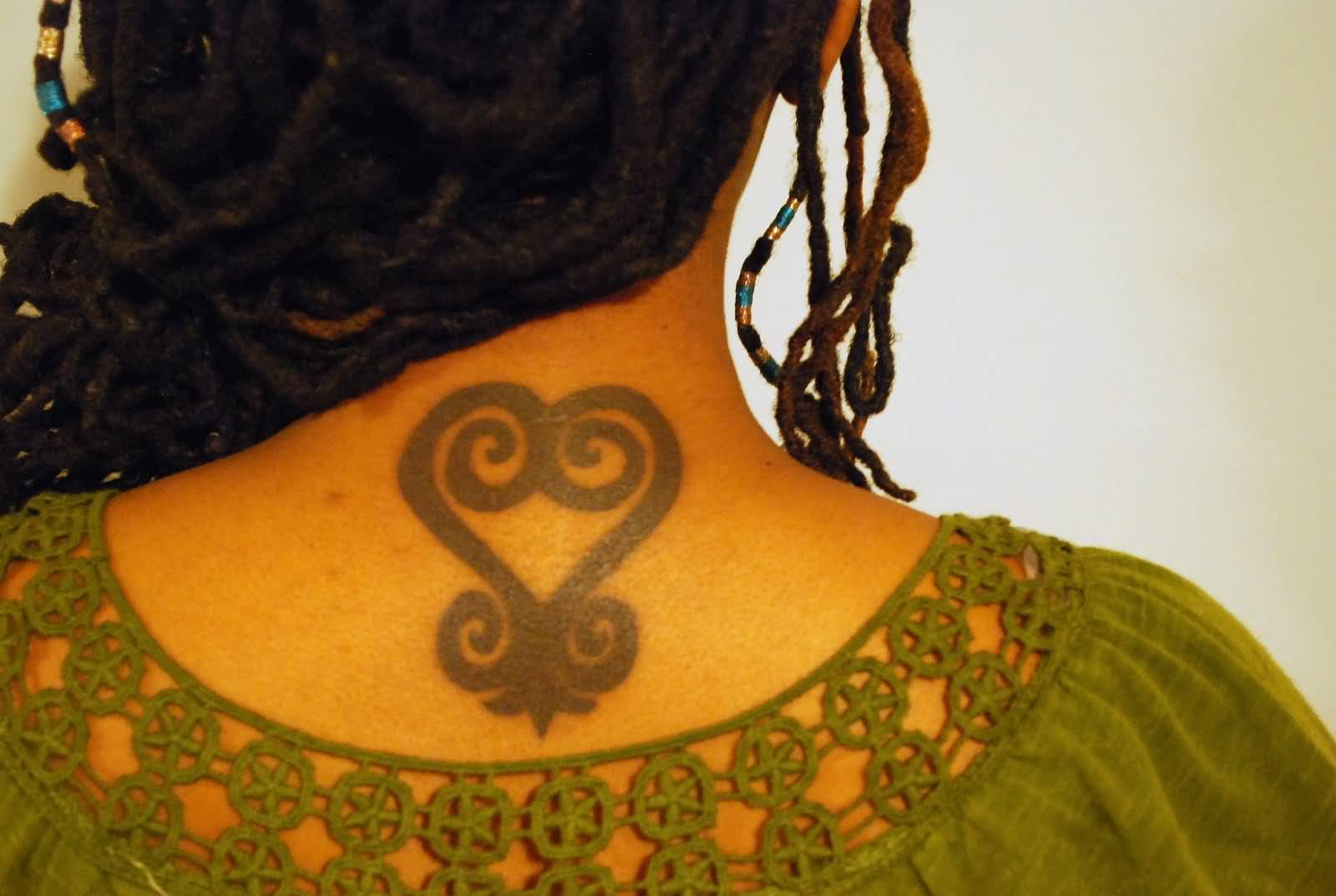 Fantastic Sankofa Symbol Tattoo For African Girl