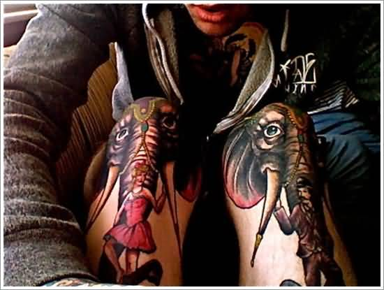 Awesome African Elephant Tattoo
