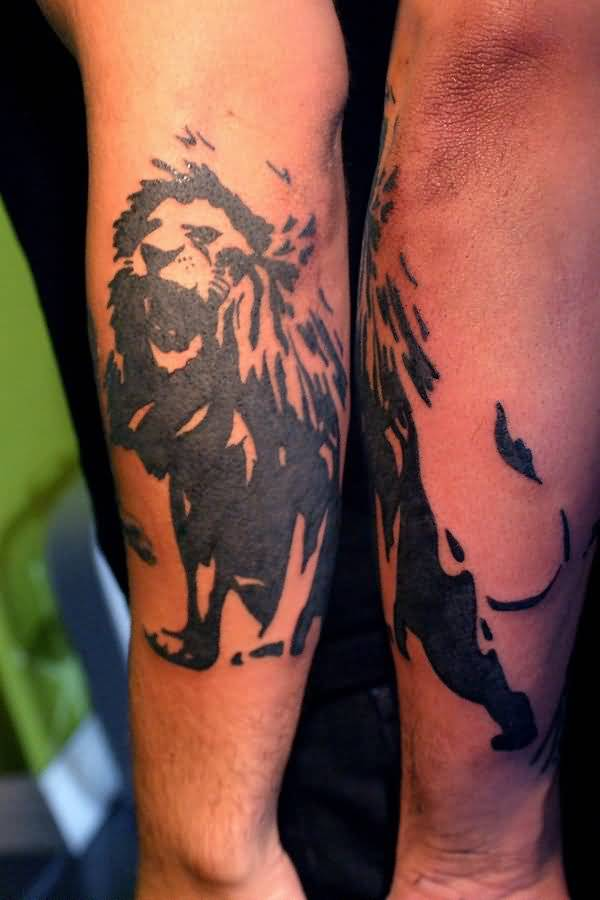 Great Looking African Lion Tattoo For Men