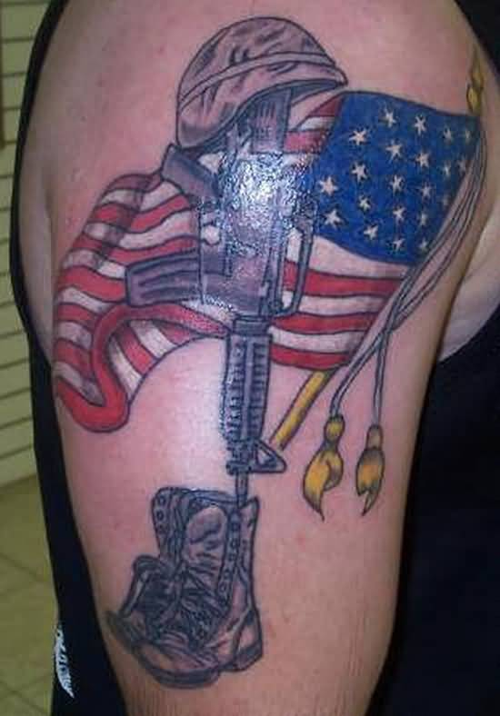Great looking american flag tattoo design tattooshunter great looking american flag tattoo design publicscrutiny Image collections