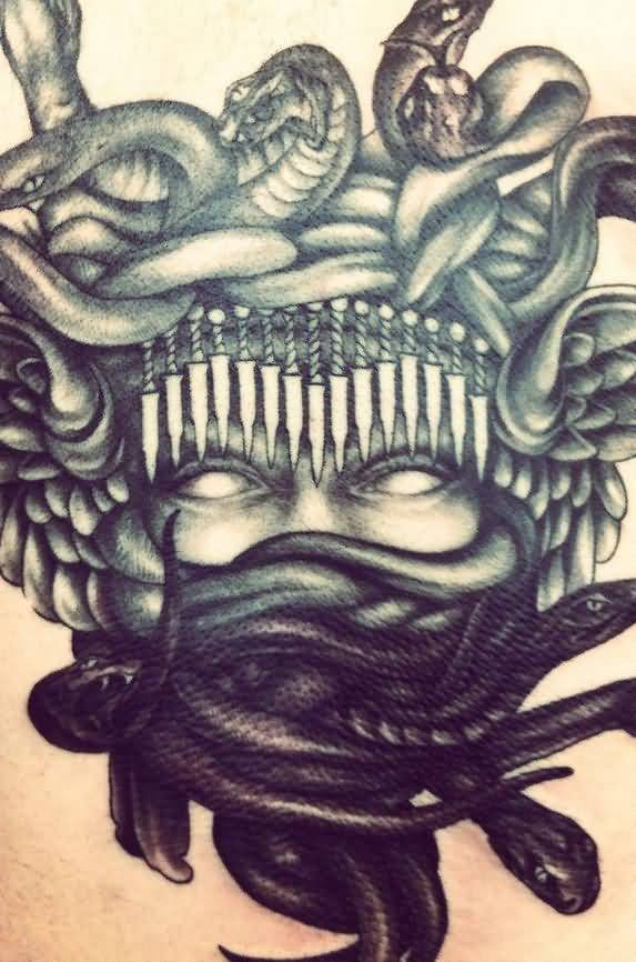 Great Medusa Mask Tattoo