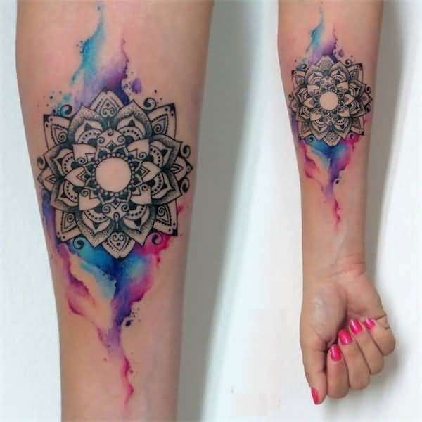 Innovative 3D Flower Tattoo For Girl