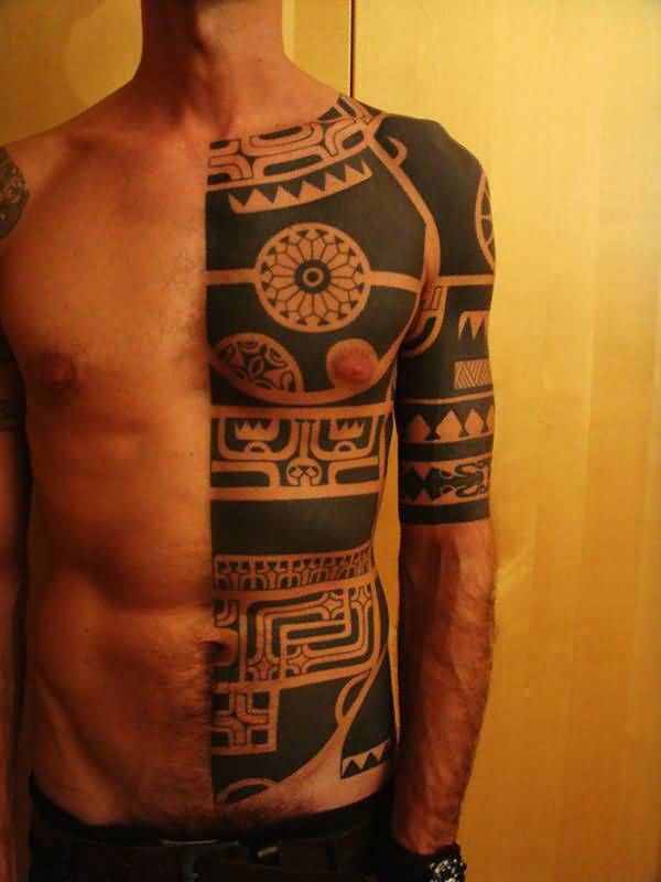 Latest African Tribal Tattoo On Full Sleeve ...