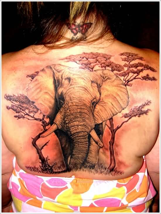 Mind Blowing African Elephant Tattoo For Women