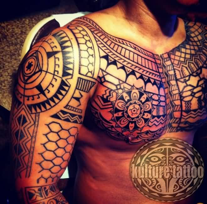 Outstanding African Sleeve Tattoo For Men
