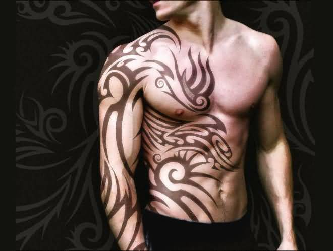 Incredible Sleeve Tattoo: Incredible African Trible Tattoo For Men Sleeve
