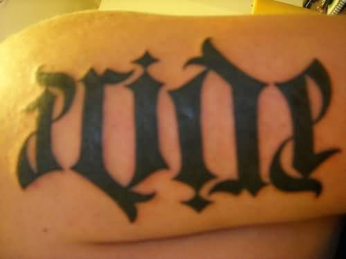 Wonderful Pride Ambigram Tattoo