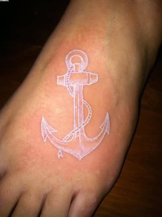 Outstanding Anchor Leg Tattoo