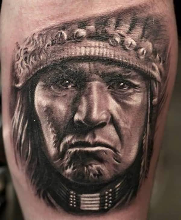 Fascinating Tattoo Of Native American