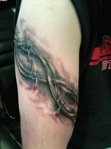 Armband Tattoo Of Logging Wire