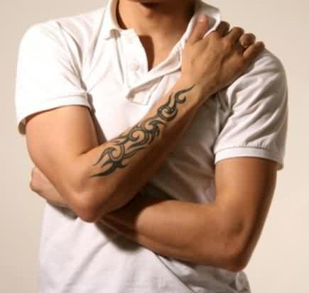 Beautiful Lower Arm Tattoo Design For Men | Tattooshunter.com