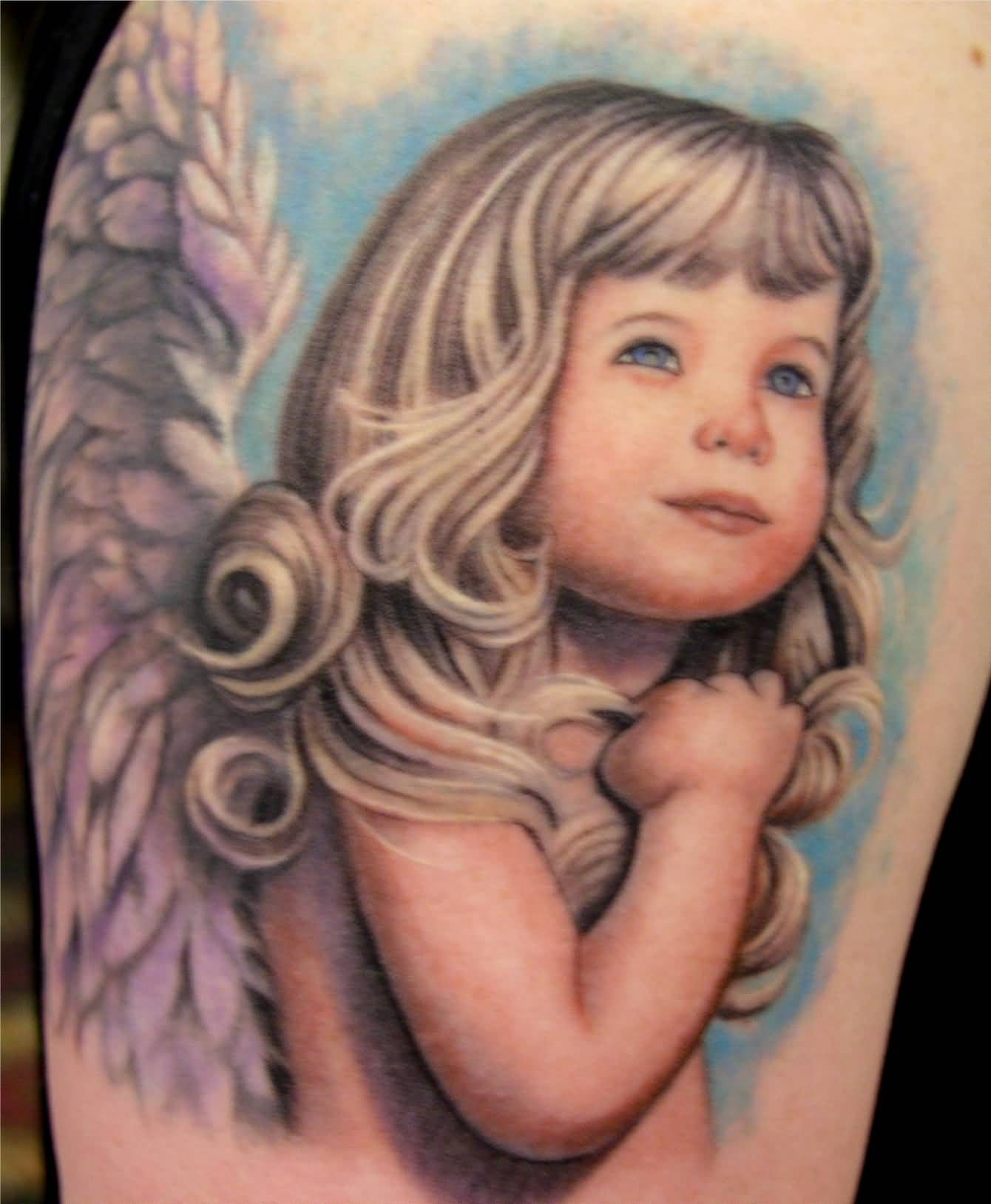 baby angel tattoo ideas and baby angel tattoo designs page 5. Black Bedroom Furniture Sets. Home Design Ideas