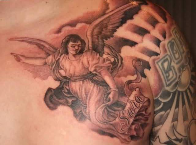 Fantastic Tattoo Of Angel Wings