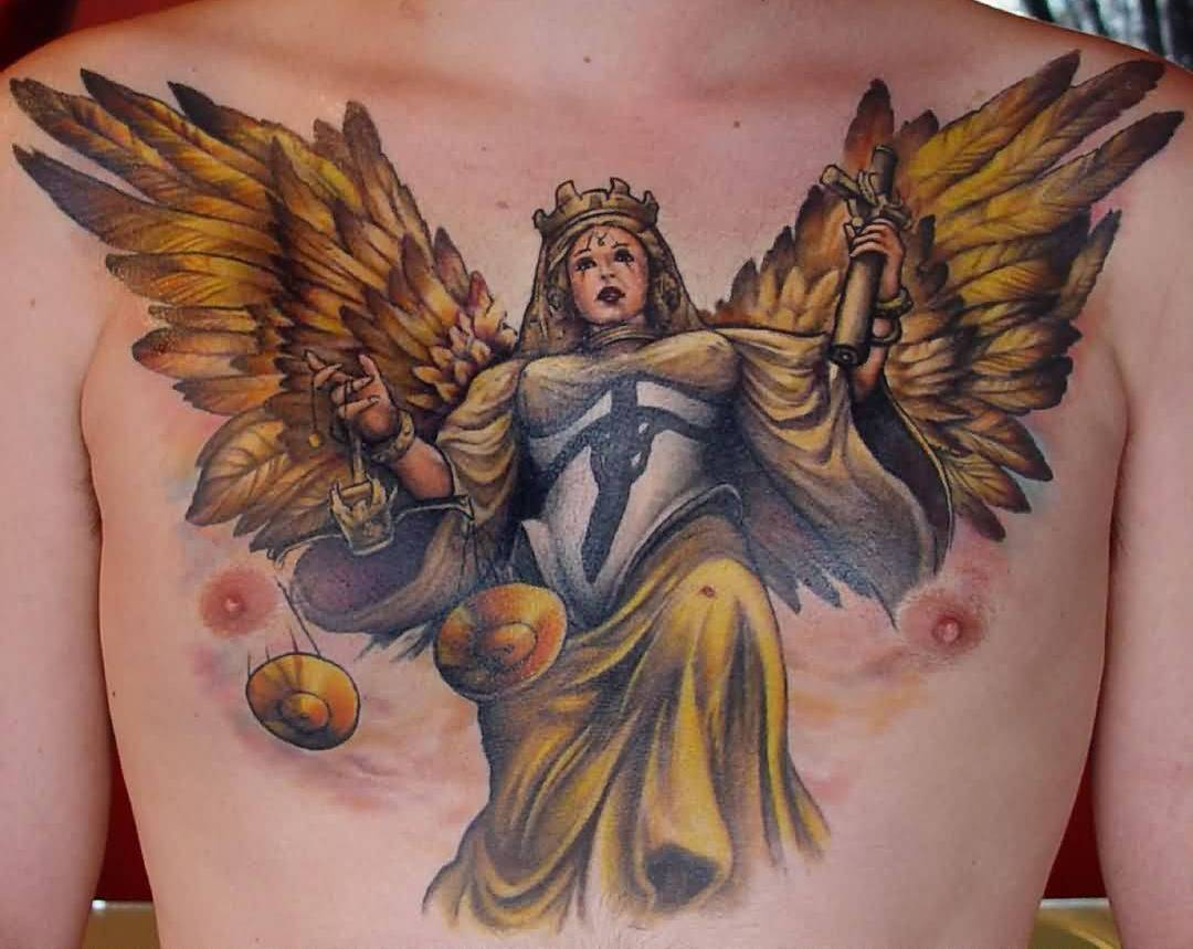 Fascinating Angel Wings Tattoo Made By Golden Ink