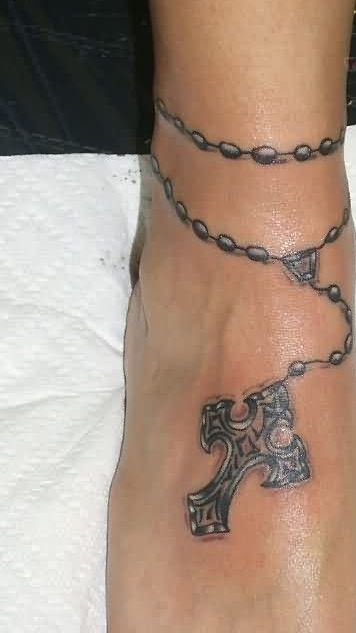 Fantastic Ankle Tattoo Of Bracelet