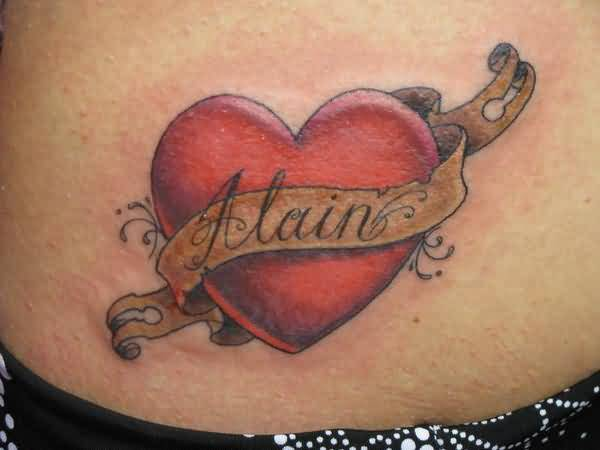 heart banner tattoo ideas and heart banner tattoo designs page 4. Black Bedroom Furniture Sets. Home Design Ideas