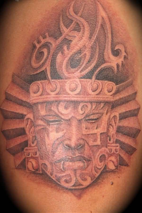 Great Looking Aztec Tattoo Design