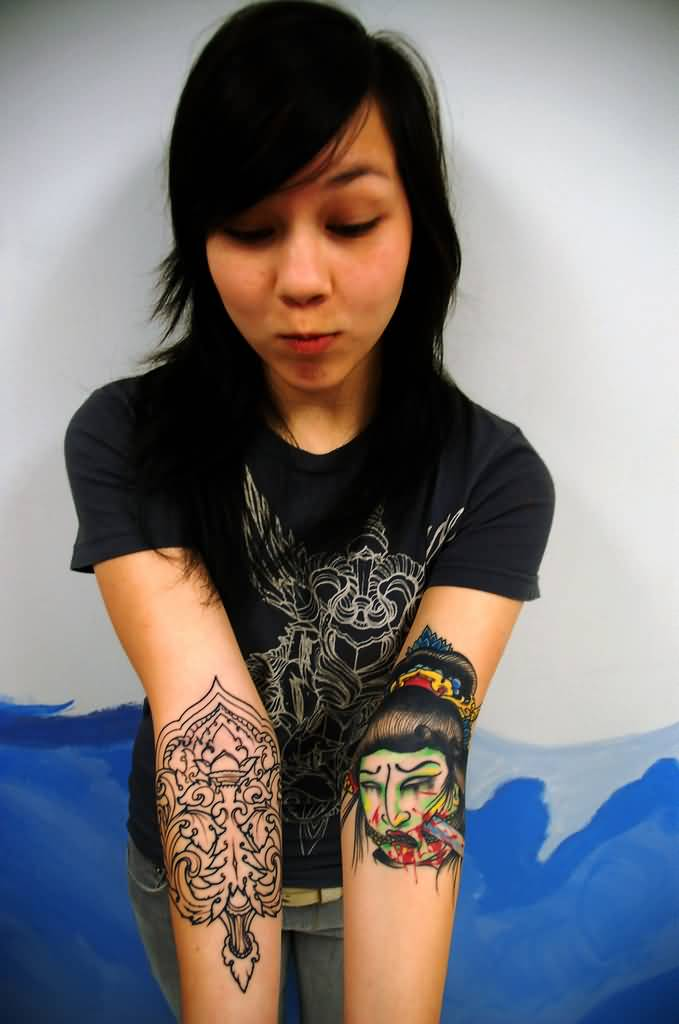 Asian women tattoo ideas and asian women tattoo designs for Woman with tattoos