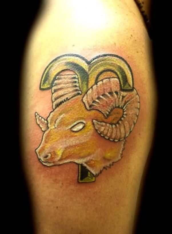 Lovely Aries Symbol Tattoo For Men