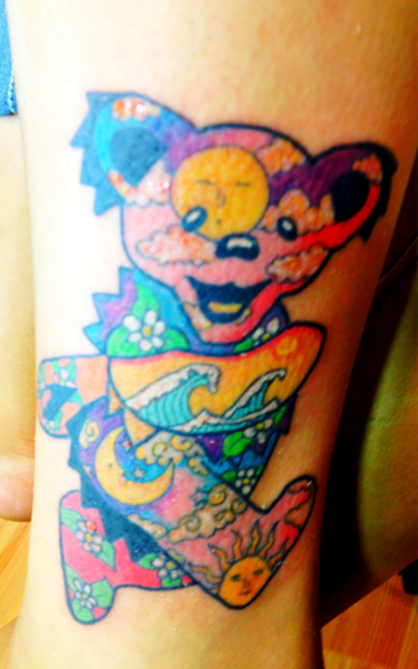 Latest Sweet Teddy Bear Tattoo Made By Colourful Ink
